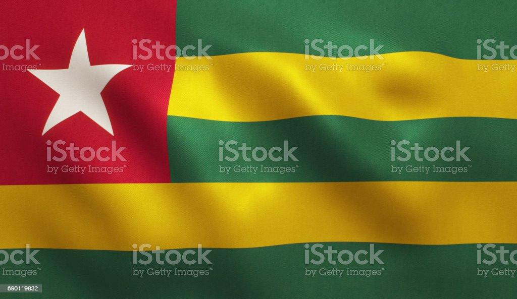 Togo Flag stock photo