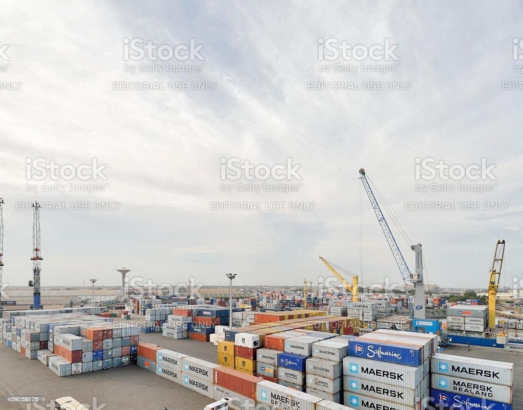 Togo Harbor Freight Yard stock photo