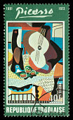 Togo Picasso painting postage stamp