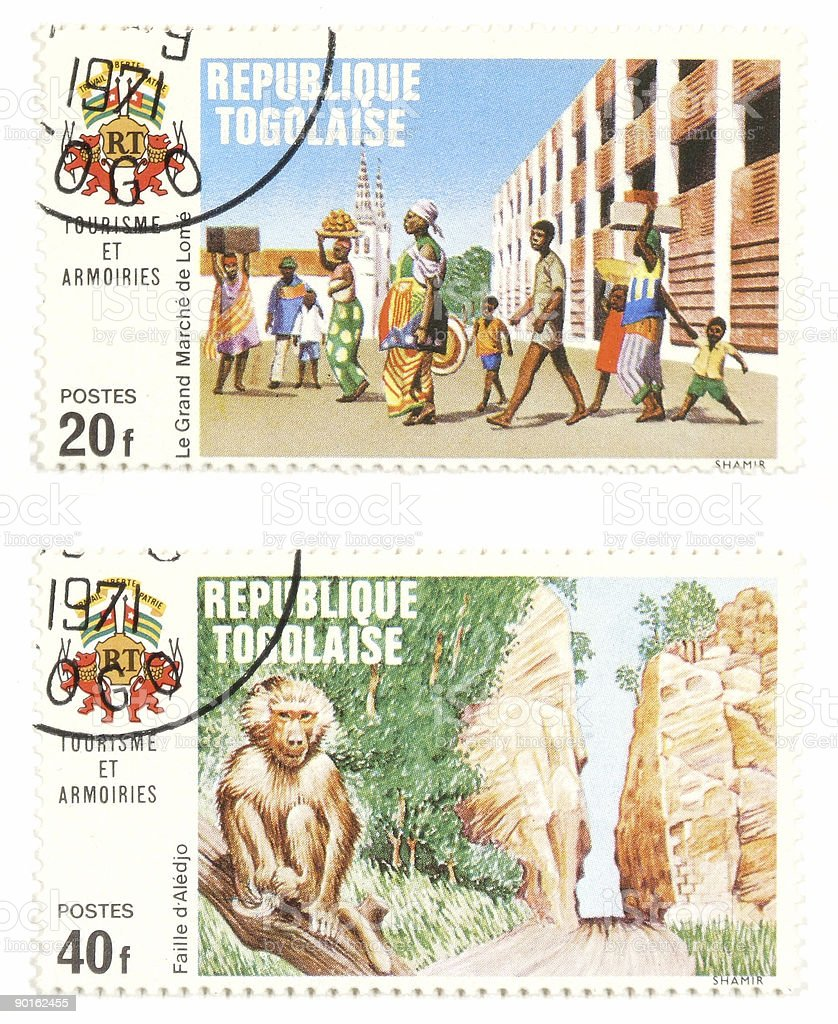Togo post stamps - exotic collectibles royalty-free stock photo