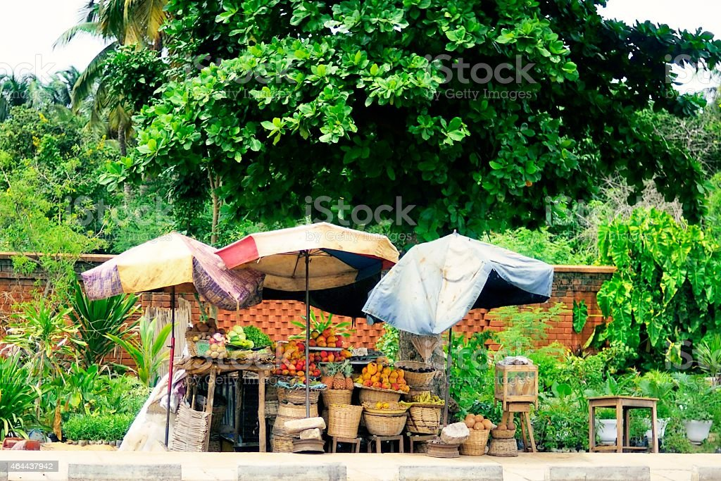 Togo Sidewalk Convenience Store stock photo
