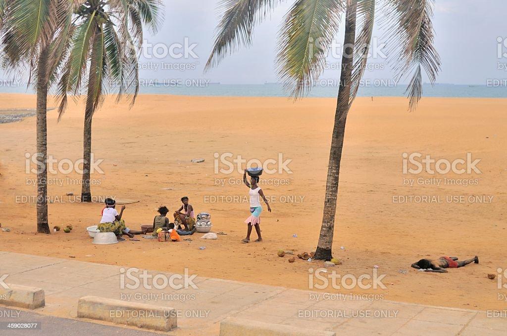 Togo Women On Boulevard de la Republique stock photo