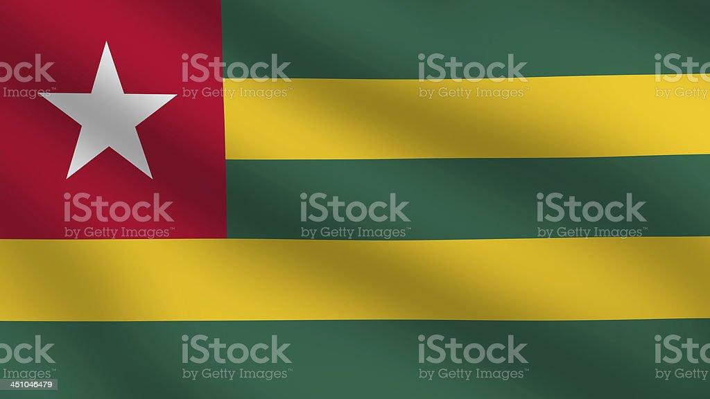 Togolese Flag stock photo