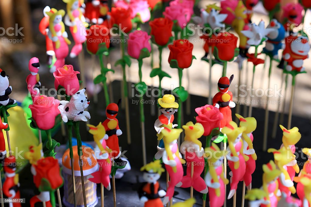 To-he (toy figurine) - a traditional toy for children in Vietnam stock photo