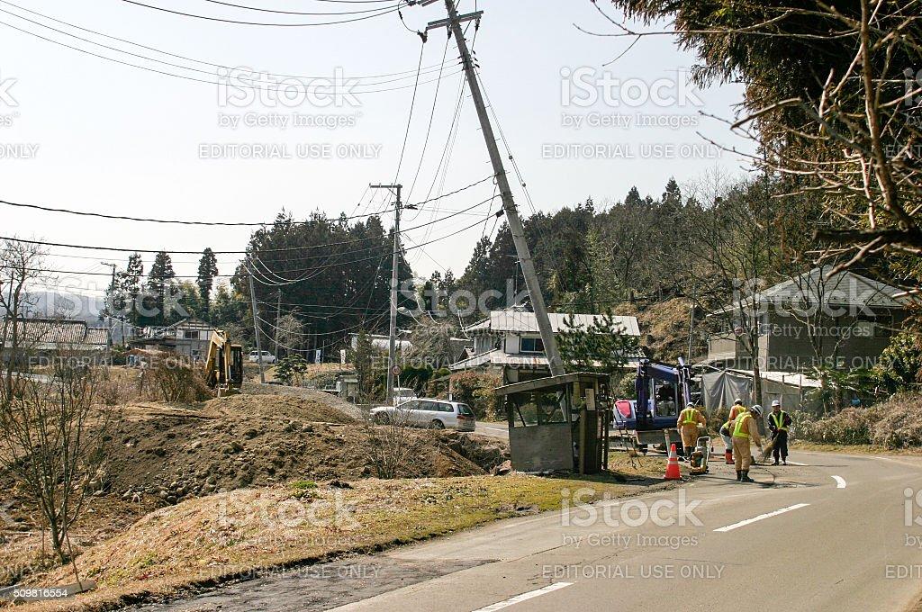 Tohoku Earthquake in Sendai stock photo
