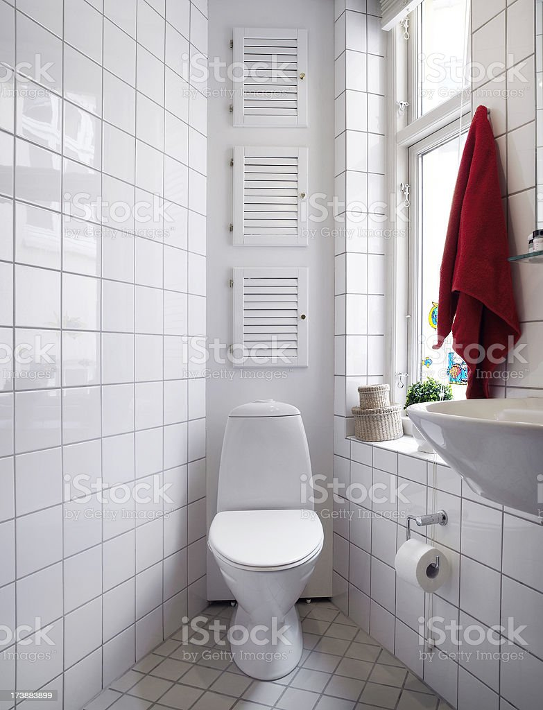 Toilet and sink stock photo