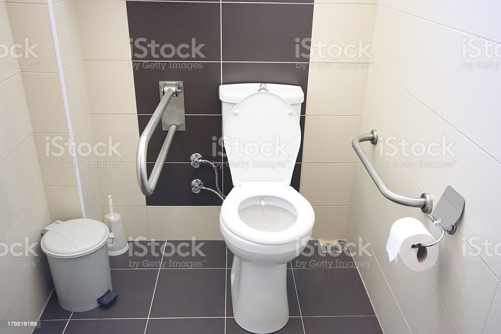 Toilet for people with disabilities stock photo