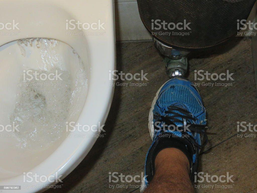 Toilet hygiene stock photo