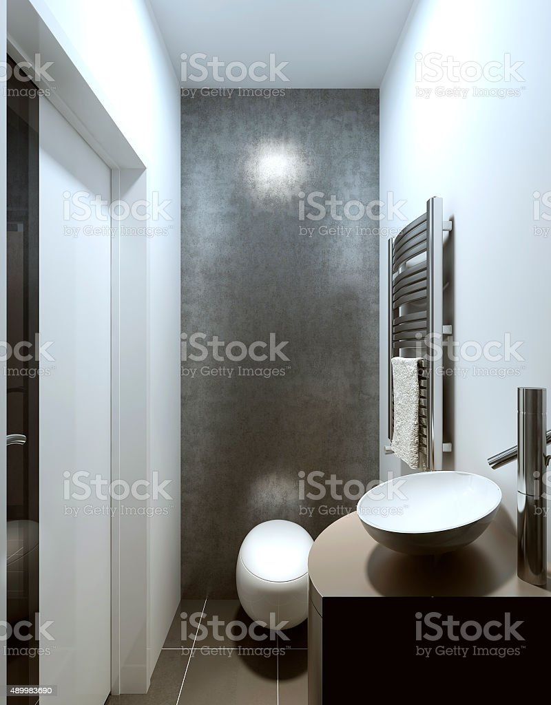 Toilet in a contemporary style. stock photo