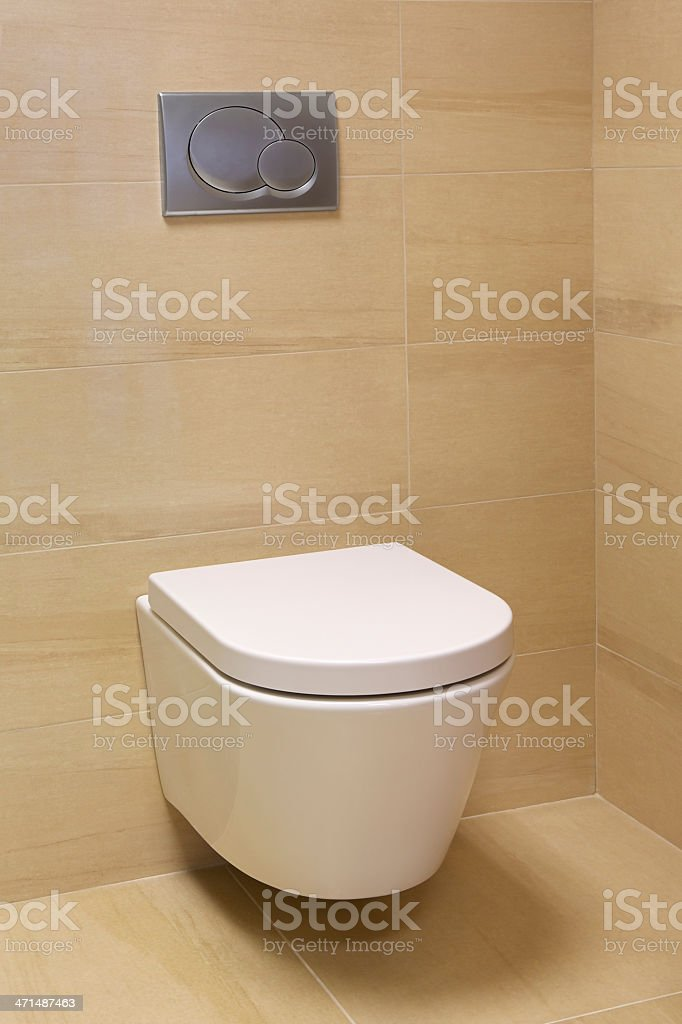 Toilet in a modern home royalty-free stock photo