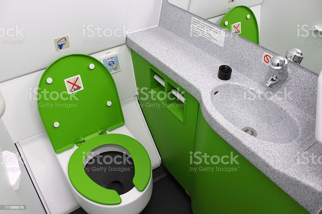 Toilet in the plane royalty-free stock photo