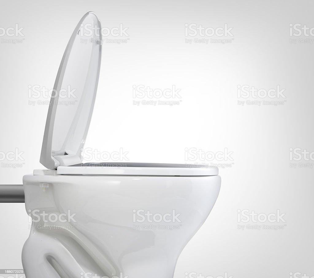toilet isolated stock photo