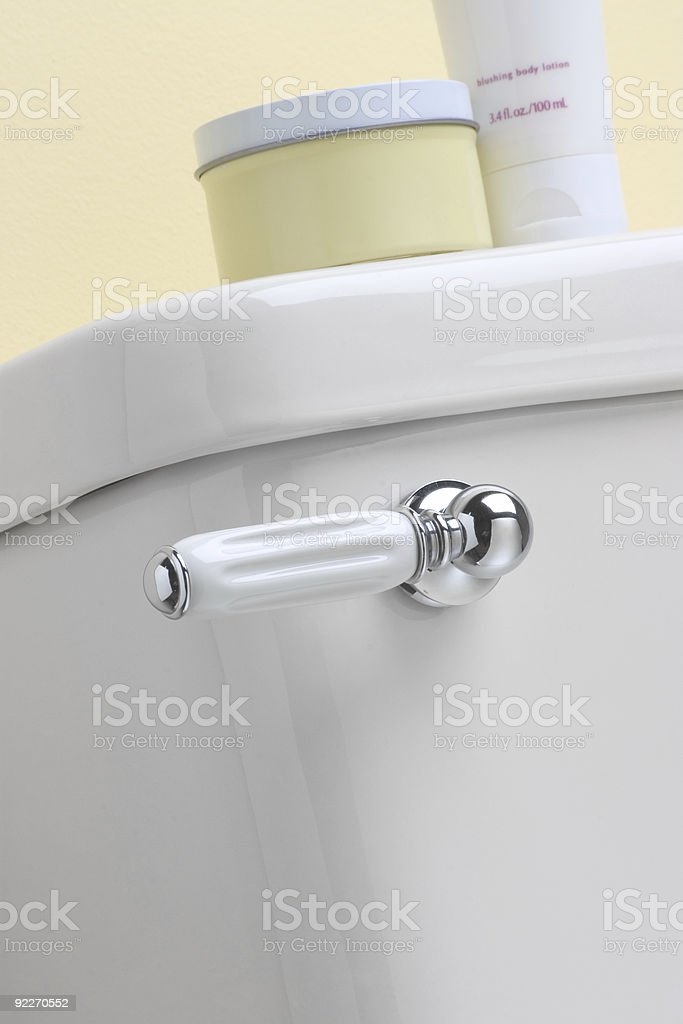 Toilet Lever Handle royalty-free stock photo
