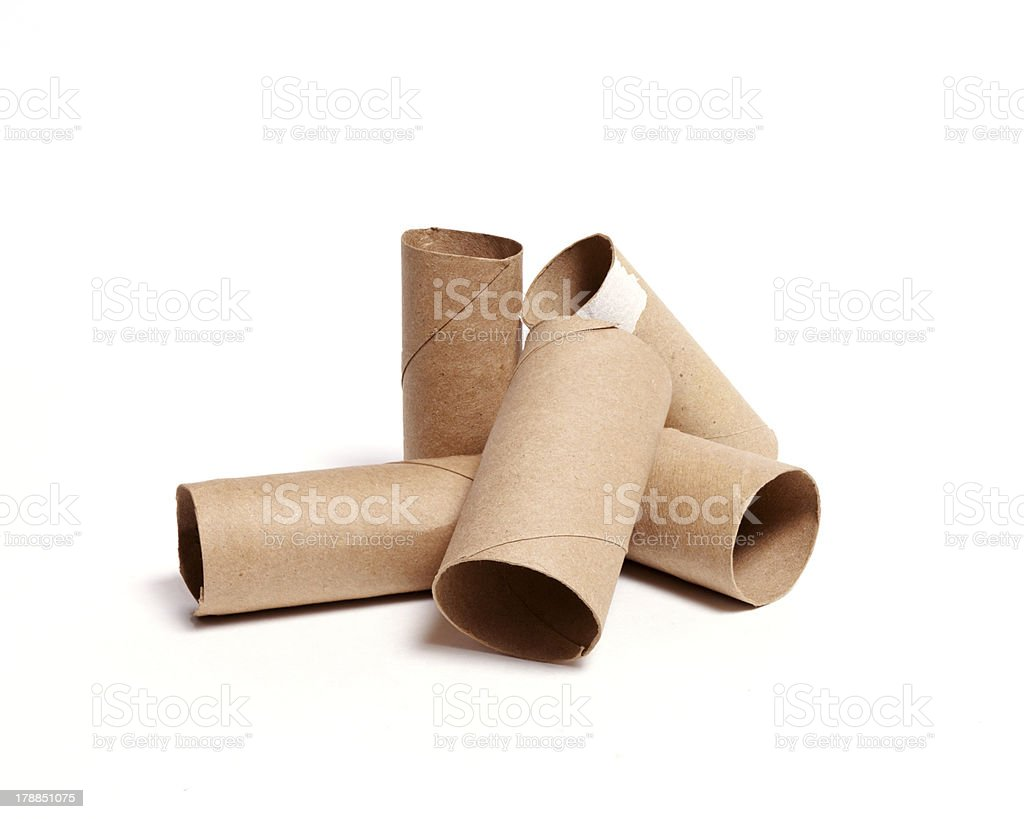 Toilet Paper Carboard Tube Pile royalty-free stock photo