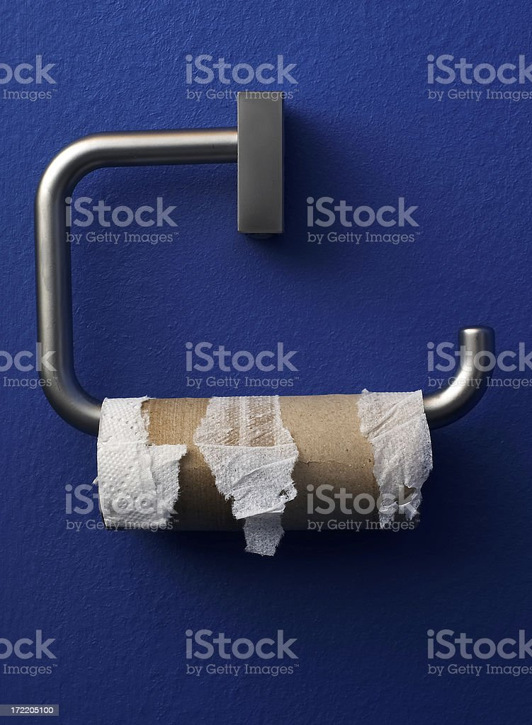 Toilet paper - empty roll royalty-free stock photo
