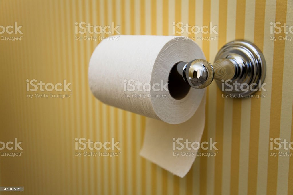Toilet Paper - Hanging UNDER, in Nice Bathroom royalty-free stock photo