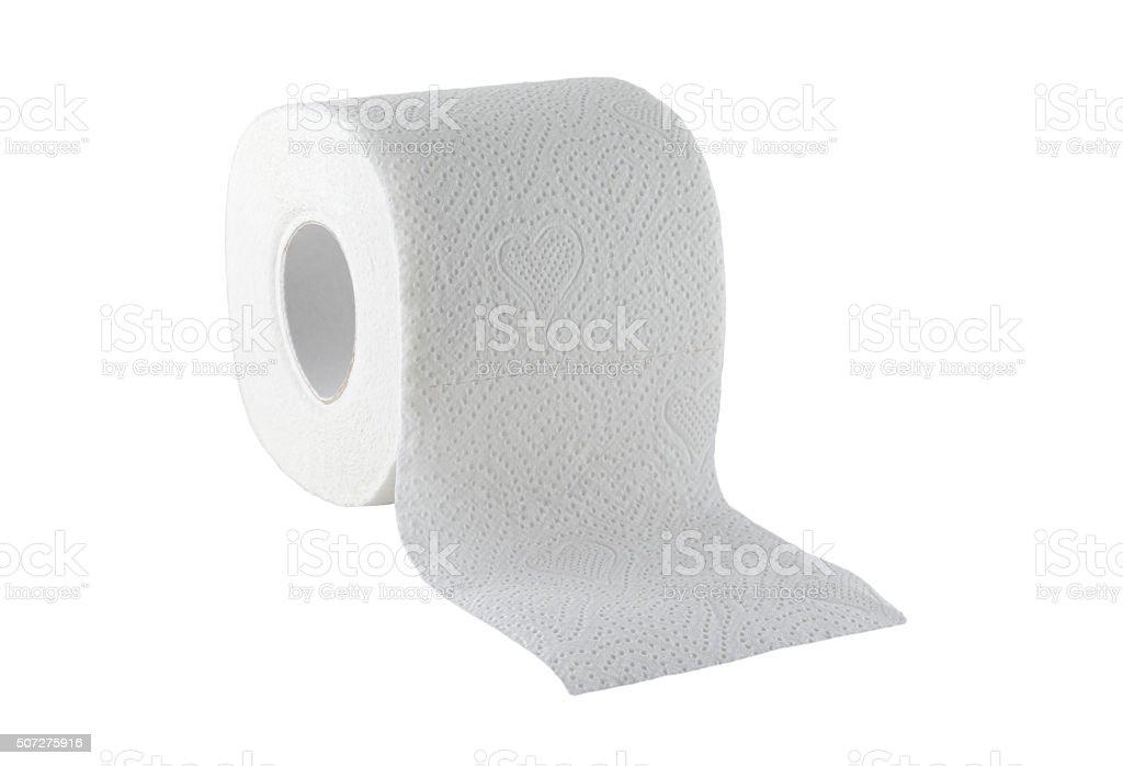 Toilet paper isolated stock photo