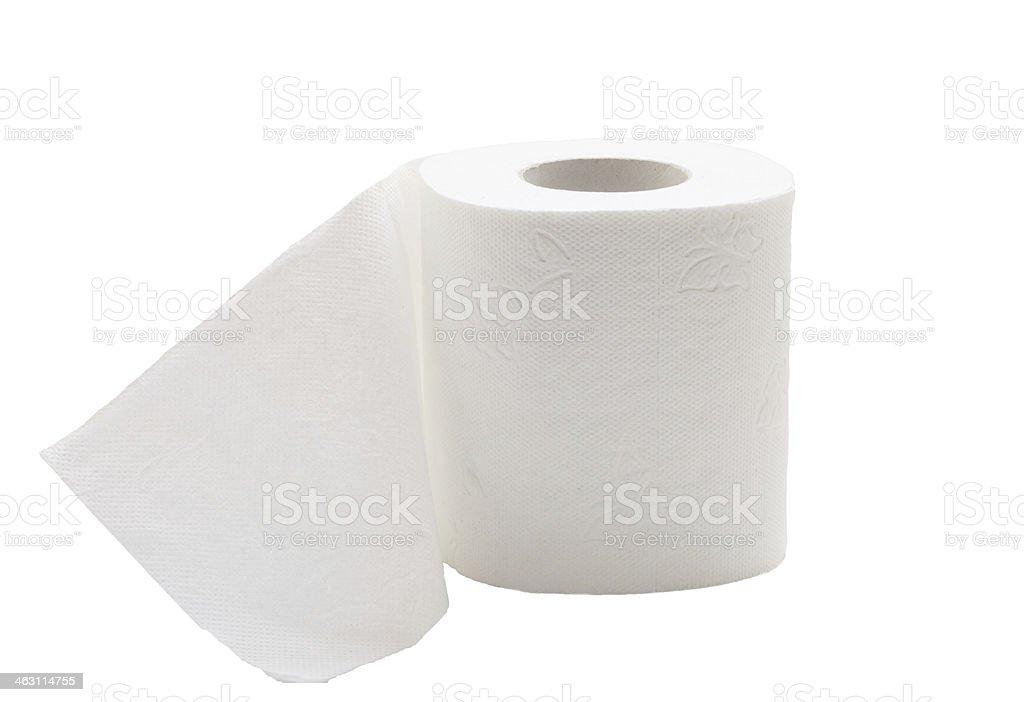 Toilet paper. stock photo