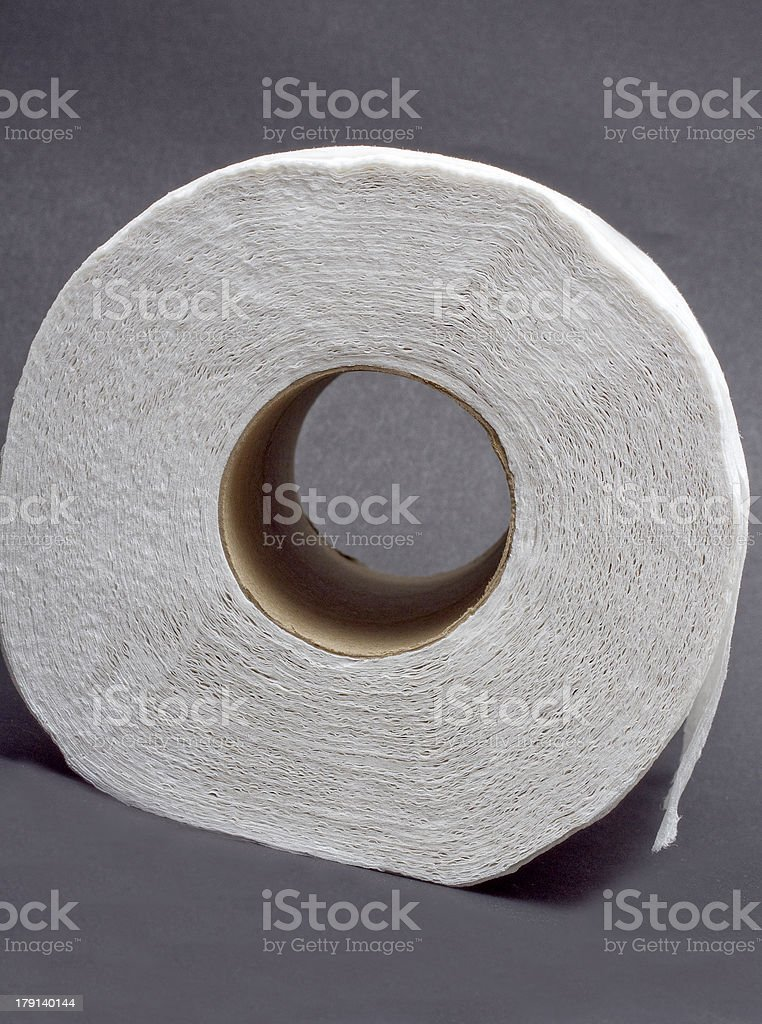 Toilet Paper Roll From The Side royalty-free stock photo