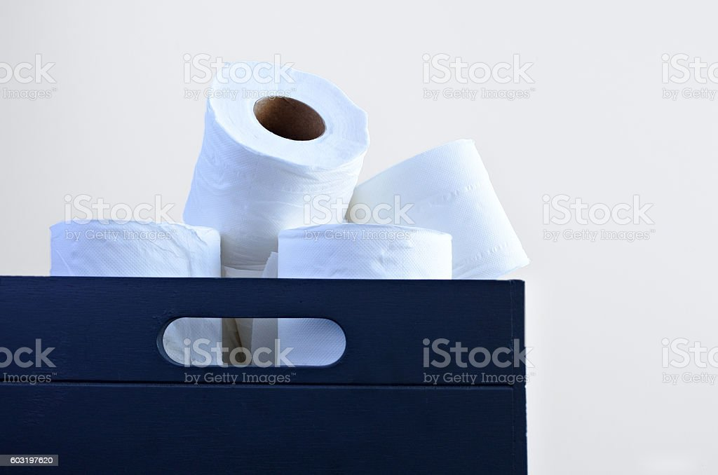Toilet papers in a box. stock photo
