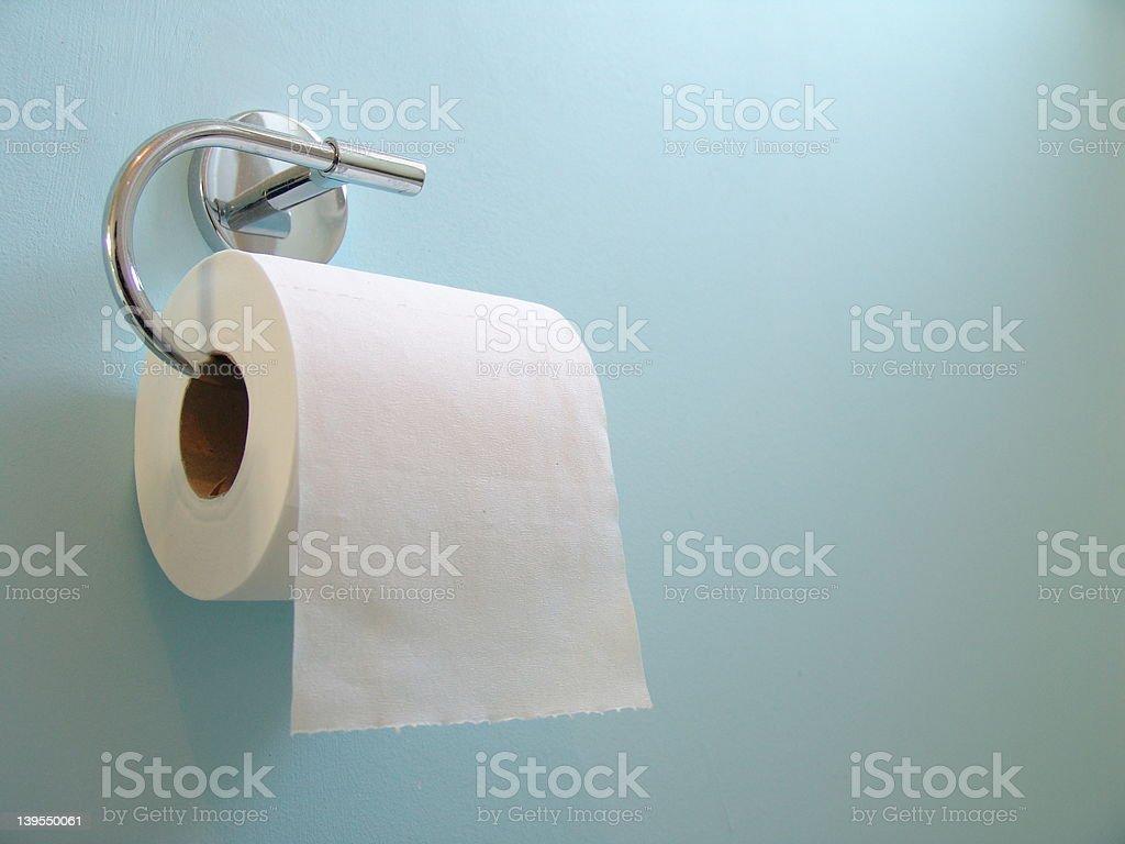 Toilet Roll on Blue stock photo