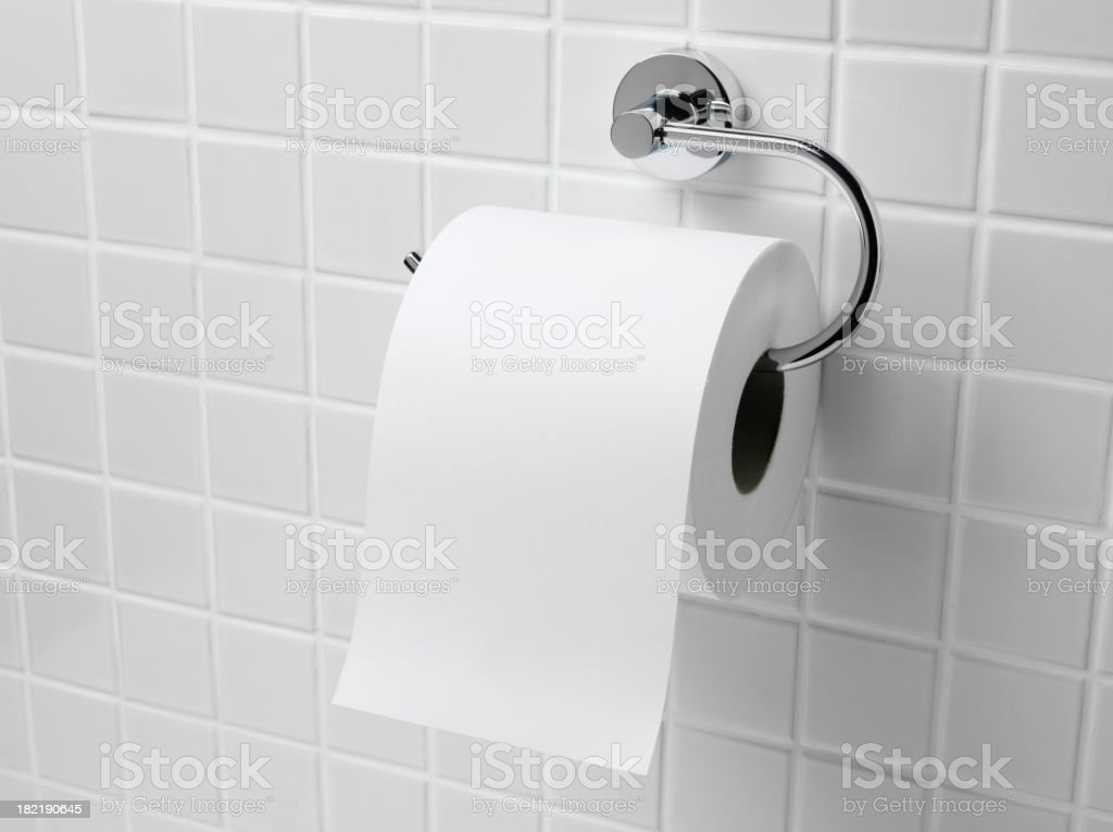 Toilet Roll stock photo