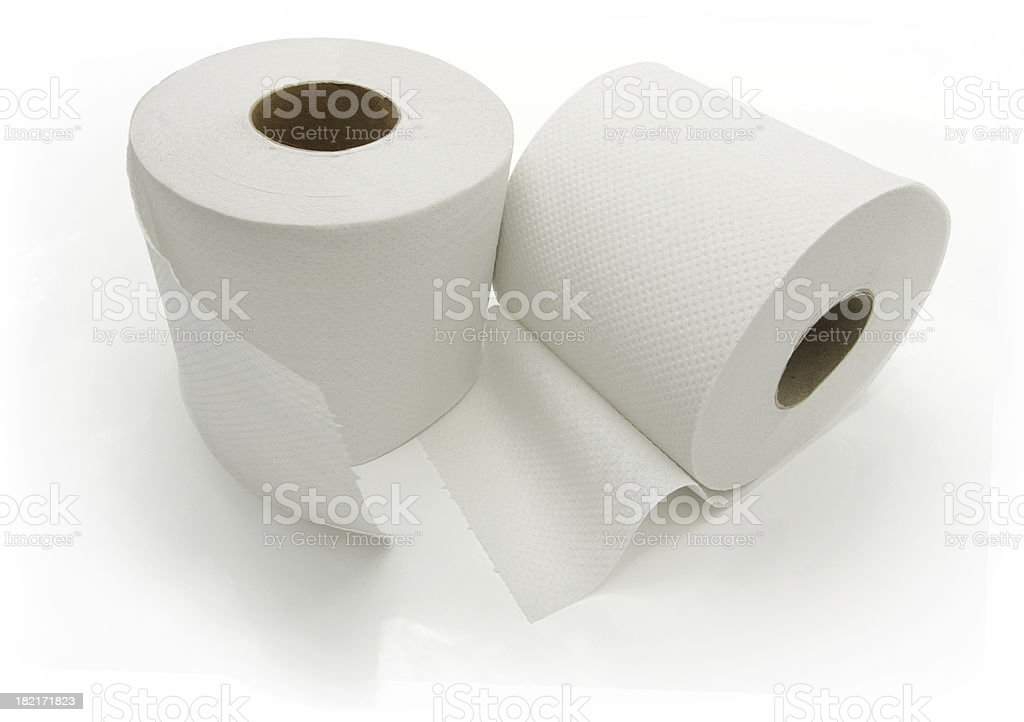 Toilet Rolls ( Isolated on White ) royalty-free stock photo