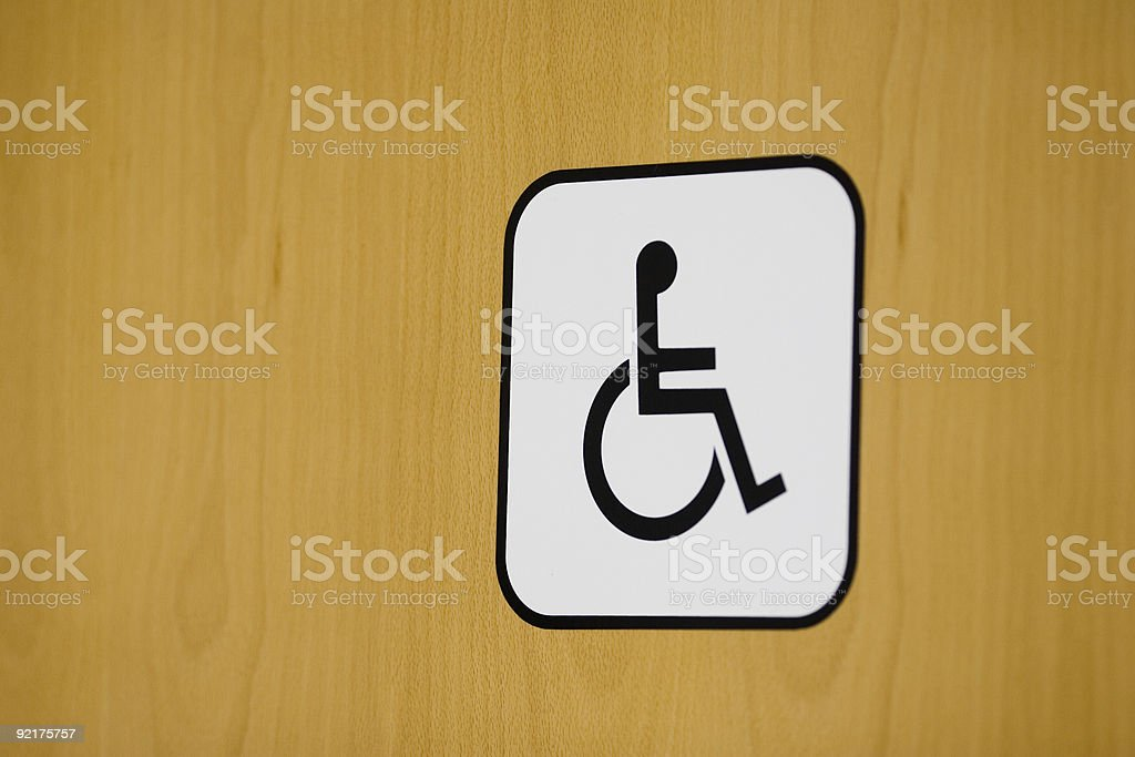 Toilet Sign - disabled royalty-free stock photo
