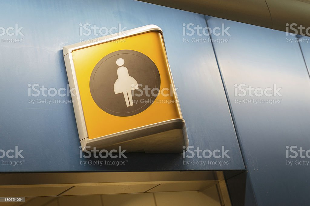 toilet sign on the airport royalty-free stock photo