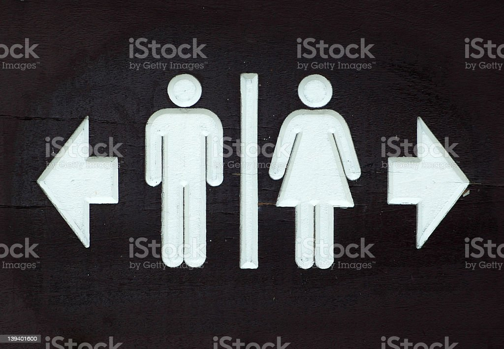 Toilet Sign royalty-free stock photo