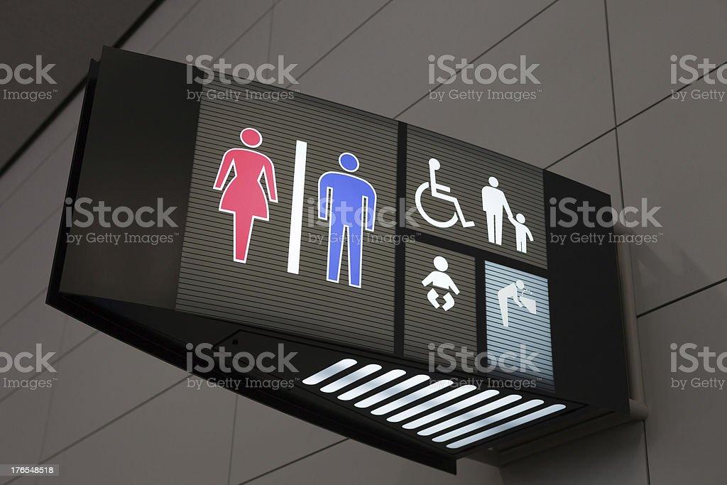 Toilet Sign royalty-free stock photo