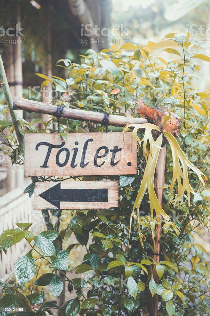 Toilet Sign stock photo