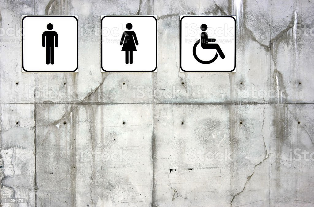 Toilet signs royalty-free stock photo