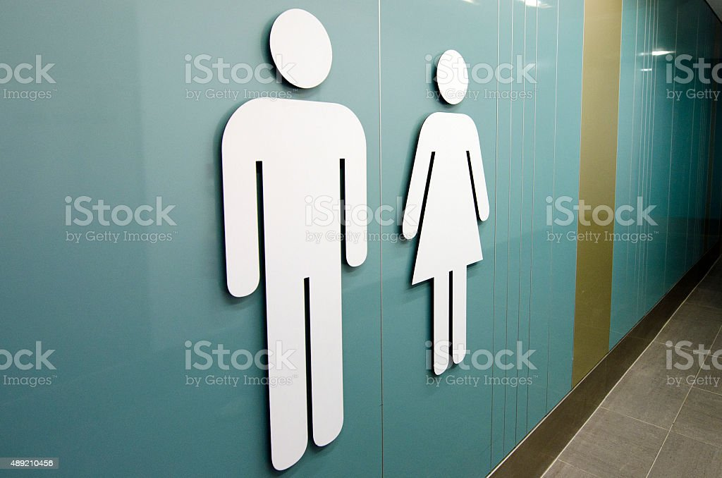 Toilet signs stock photo