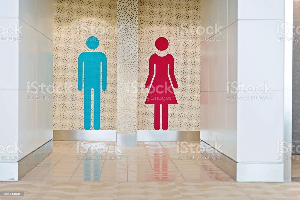 toilet signs stock photo
