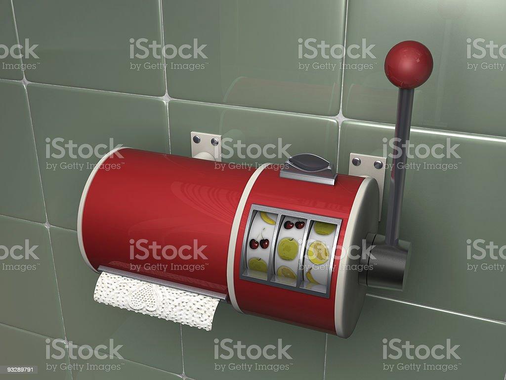 toilet slot machine stock photo