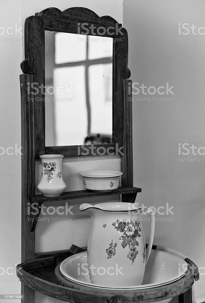 Toilet with basin royalty-free stock photo