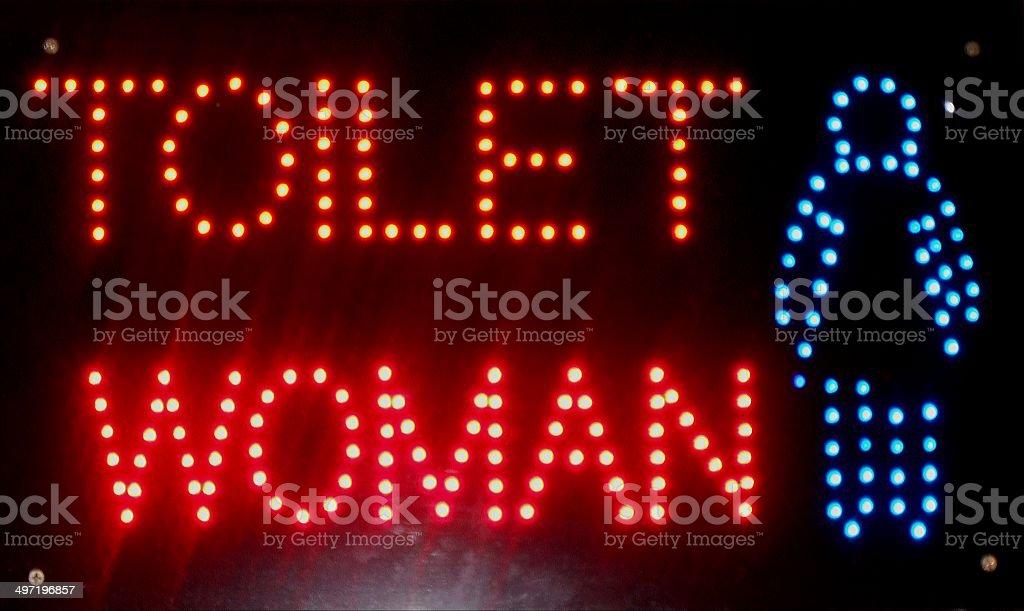 Toilet Woman sign stock photo