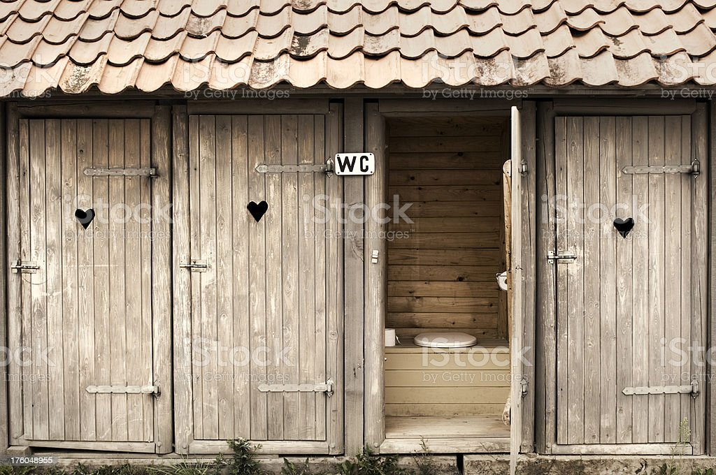 Toilette doors royalty-free stock photo