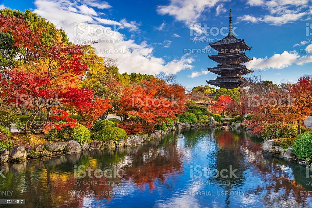 Toji Pagoda stock photo