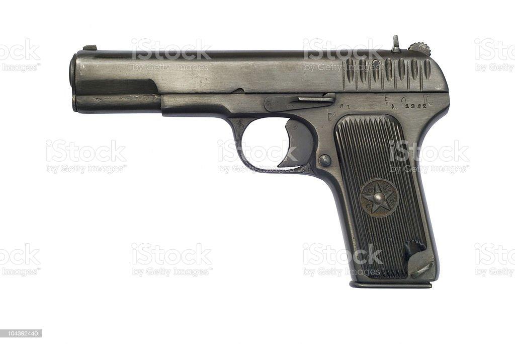 Tokarev TT33 Pistol stock photo
