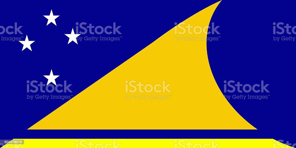 Tokelau National Flag stock photo