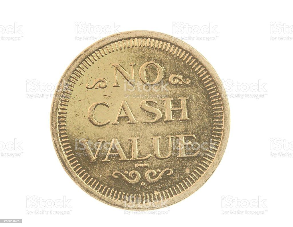Token Coin royalty-free stock photo