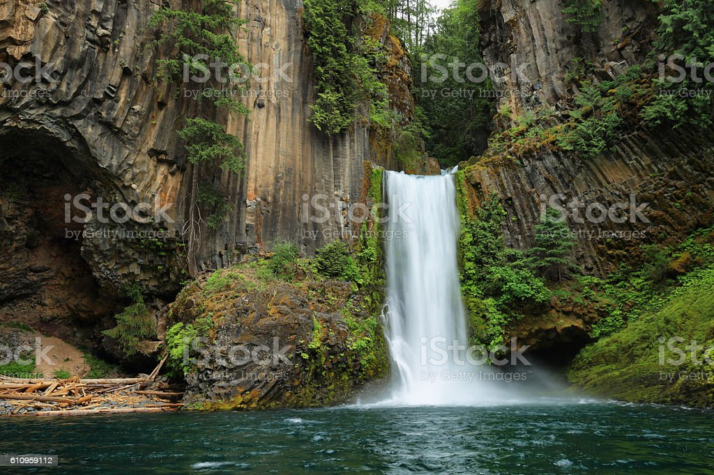 Toketee Falls in Oregon stock photo