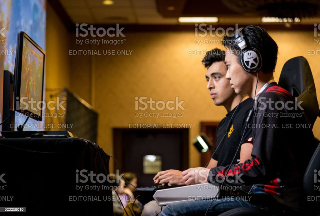 MCZ Tokido versus Julio in Street Fighter V NCR 2016 stock photo