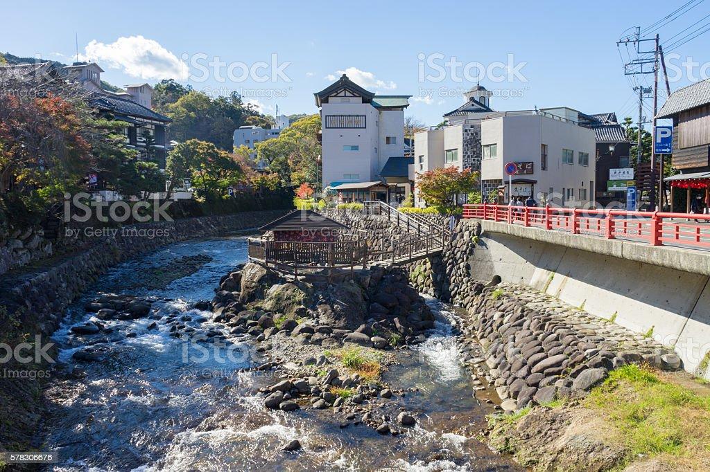 Tokko no yu / the oldest hot spring in Izu stock photo
