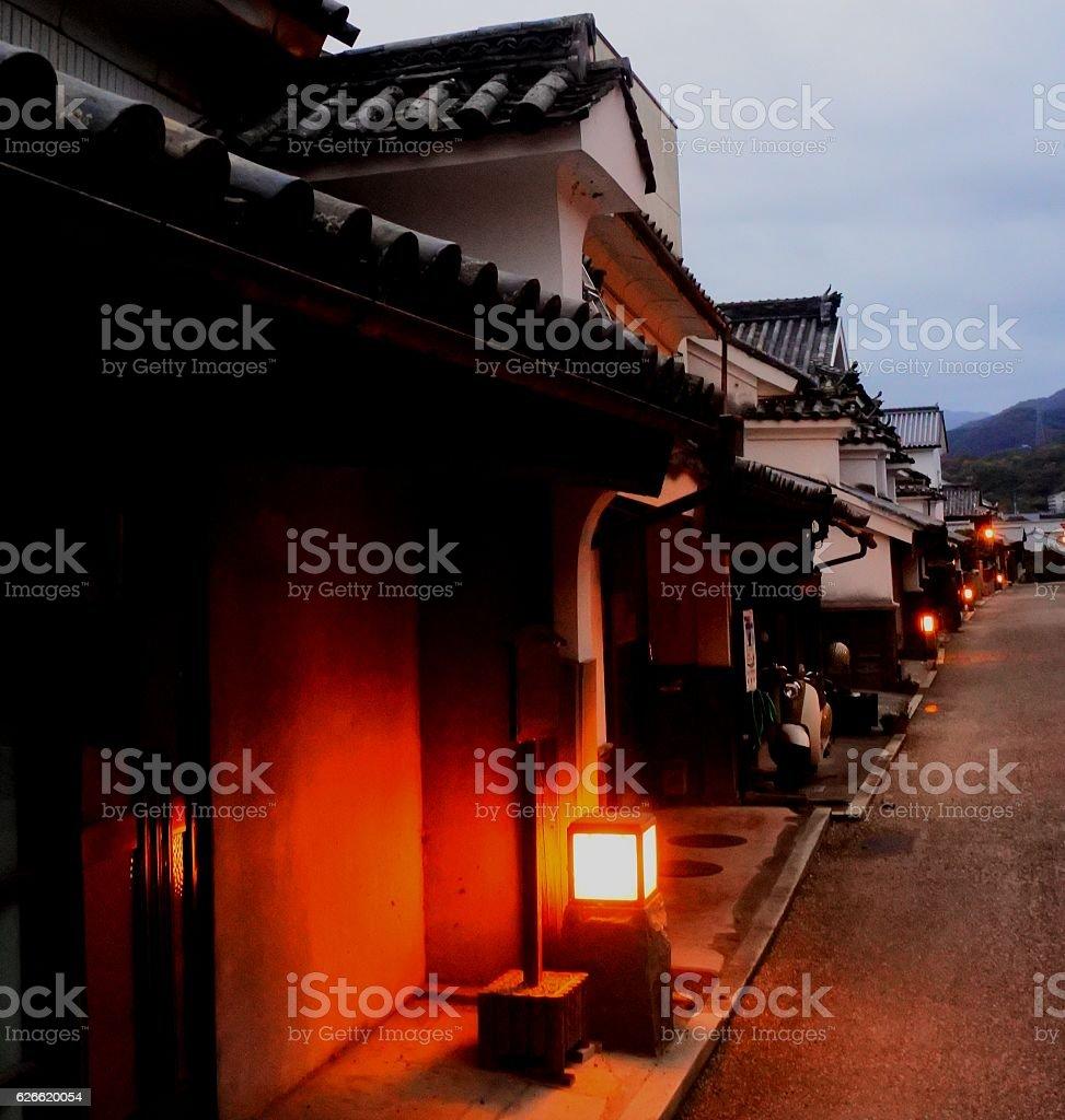 Tokushima prefecture, Waki town night street with udatsu stock photo