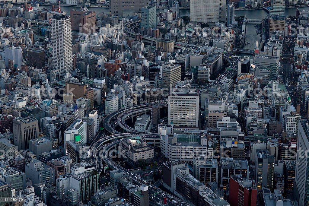 tokyo aerial stock photo