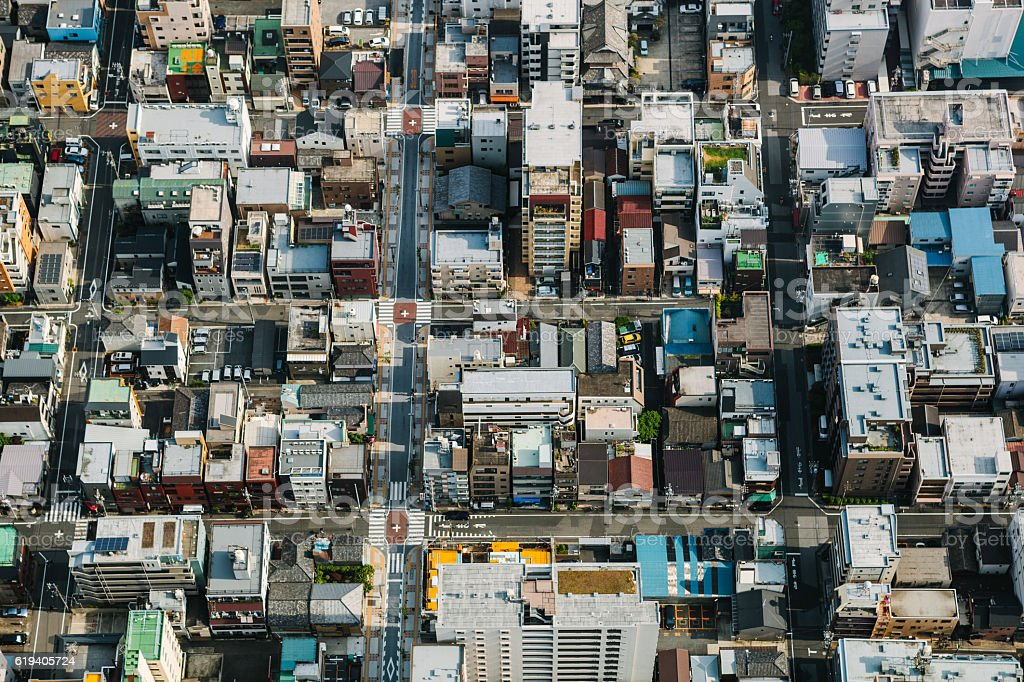 Tokyo Aerial View stock photo