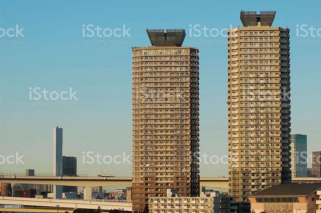 Tokyo apartments royalty-free stock photo